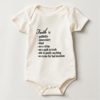 Faith is gullibility baby bodysuit