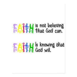 Faith is... postcard