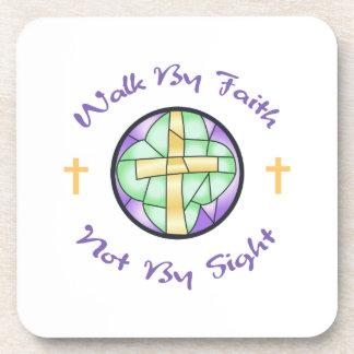 Faith Is The Key Beverage Coaster