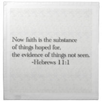 Faith is the Substance of Things Hoped for Cloth Napkin