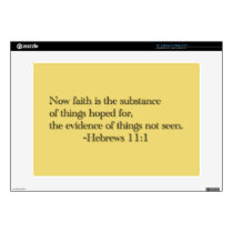 "Faith is the Substance of Things Hoped for Decals For 15"" Laptops"
