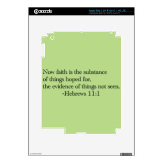 Faith is the Substance of Things Hoped for iPad 3 Decals