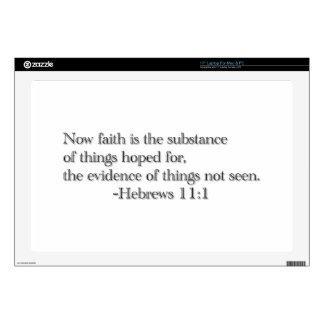 Faith is the Substance of Things Hoped for Laptop Skins