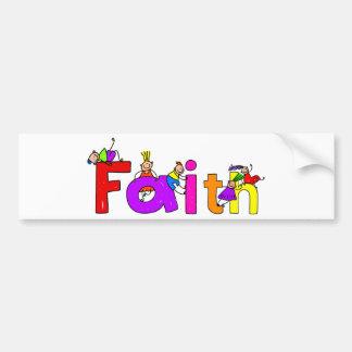 Faith Kids Car Bumper Sticker
