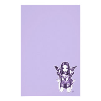 """Faith"" Kneeling Butterfly Fairy Art Stationery"