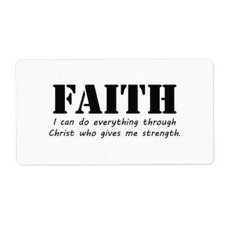Faith Label