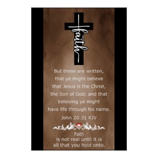 Faith Life Through Jesus Name Poster