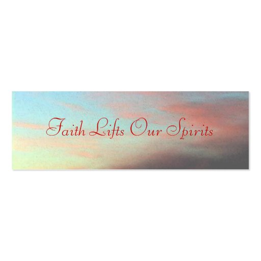 Faith Lifts Our Spirits Business Card Templates