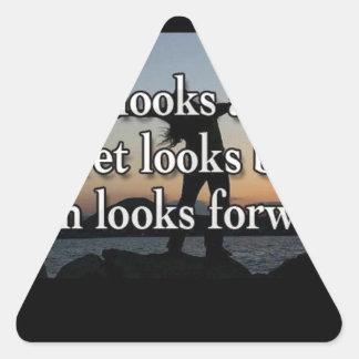 Faith Looks Forward Triangle Sticker