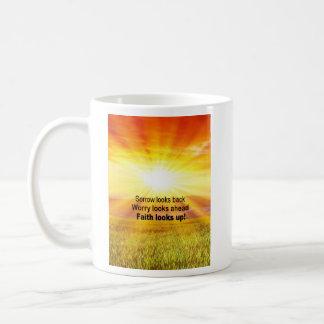 Faith looks up! coffee mug