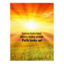 Faith looks up! postcard