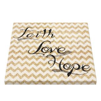 Faith Love and Hope Canvas