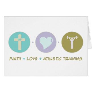 Faith Love Athletic Training Greeting Card