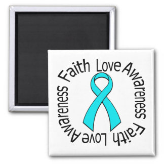 Faith Love Awareness Addiction Recovery Refrigerator Magnets
