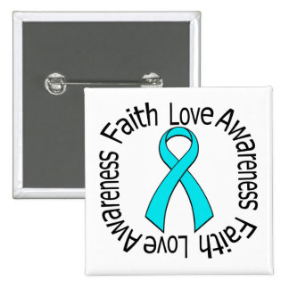 Faith Love Awareness Addiction Recovery Pinback Button