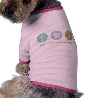 Faith Love Backpacking Dog T-shirt