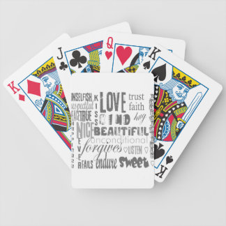 Faith Love Bible Verse Christian  1Corinthians 13 Bicycle Playing Cards