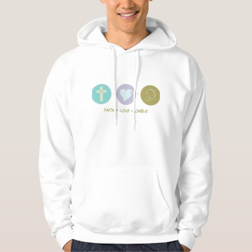 Faith Love Cable Hooded Pullover