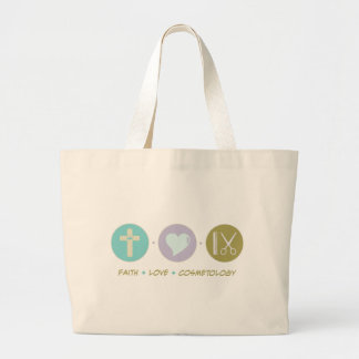 Faith Love Cosmetology Large Tote Bag
