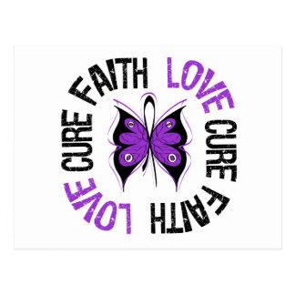 Faith Love Cure Butterfly Alzheimer's Disease Postcard