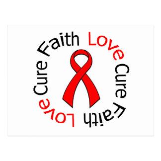 Faith Love Cure Cardiovascular Disease Postcard