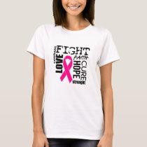 Faith,Love,Cure,Faith,Hope Courage Strength T-Shirt