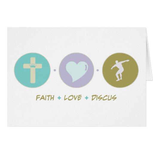 Faith Love Discus Greeting Cards