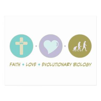 Faith Love Evolutionary Biology Postcard
