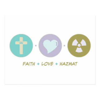 Faith Love Hazmat Postcard