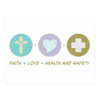 Faith Love Health and Safety Postcard