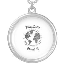 Faith Love Hope Breast Cancer Awareness Gift Silver Plated Necklace