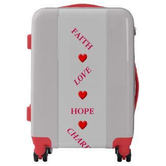Faith Love Hope Charity Luggage
