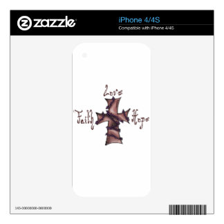 Faith love hope cross decals for the iPhone 4S