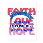 Faith Love Hope Post Cards