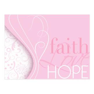 Faith Love Hope Postcard