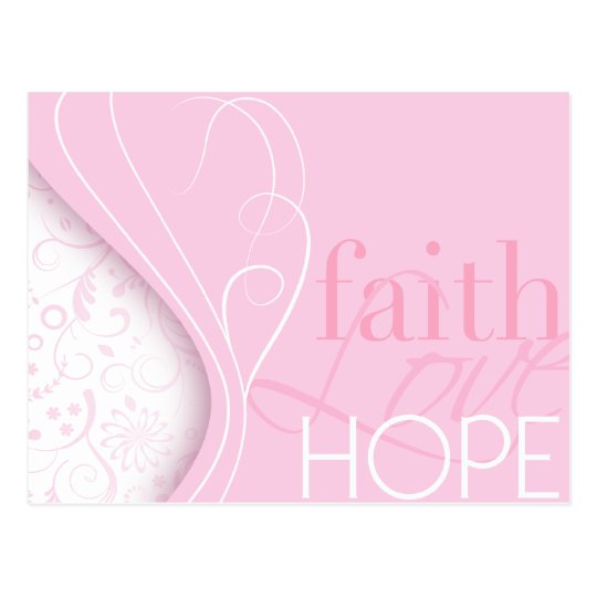 Faith Love Hope Postcard