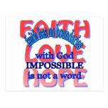 Faith Love Hope Postcards