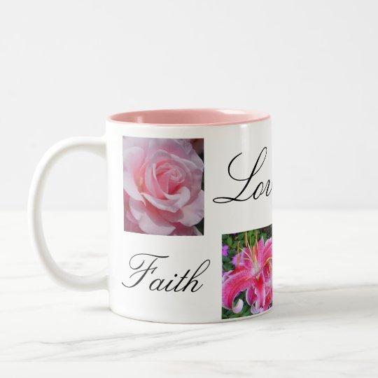 Faith Love Joy Hope Two-Tone Coffee Mug