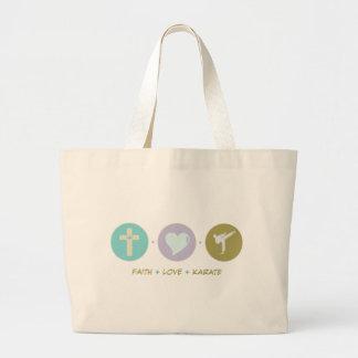 Faith Love Karate Canvas Bag