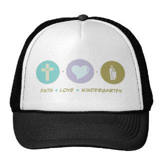 Faith Love Kindergarten Trucker Hats
