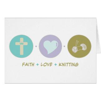 Faith Love Knitting Cards