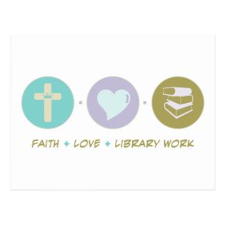 Faith Love Library Work Postcards