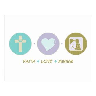 Faith Love Mining Postcard