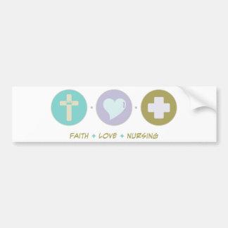 Faith Love Nursing Car Bumper Sticker