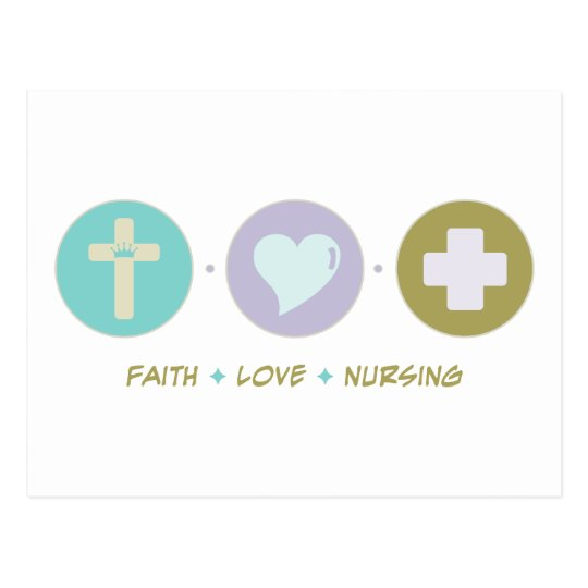 Faith Love Nursing Postcard