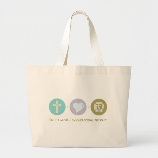 Faith Love Occupational Therapy Large Tote Bag
