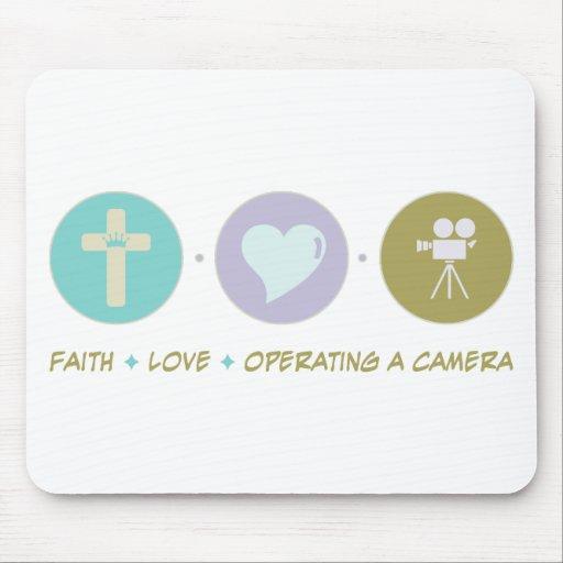 Faith Love Operating a Camera Mouse Pad