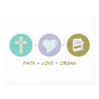 Faith Love Organ Post Card