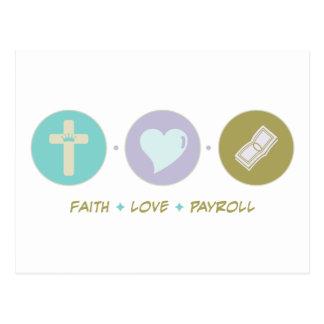 Faith Love Payroll Postcards