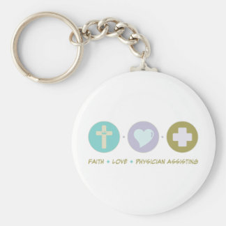Faith Love Physician Assisting Key Chain